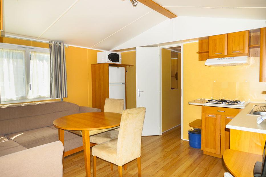 Mobil Home Argentella séjour et cuisine
