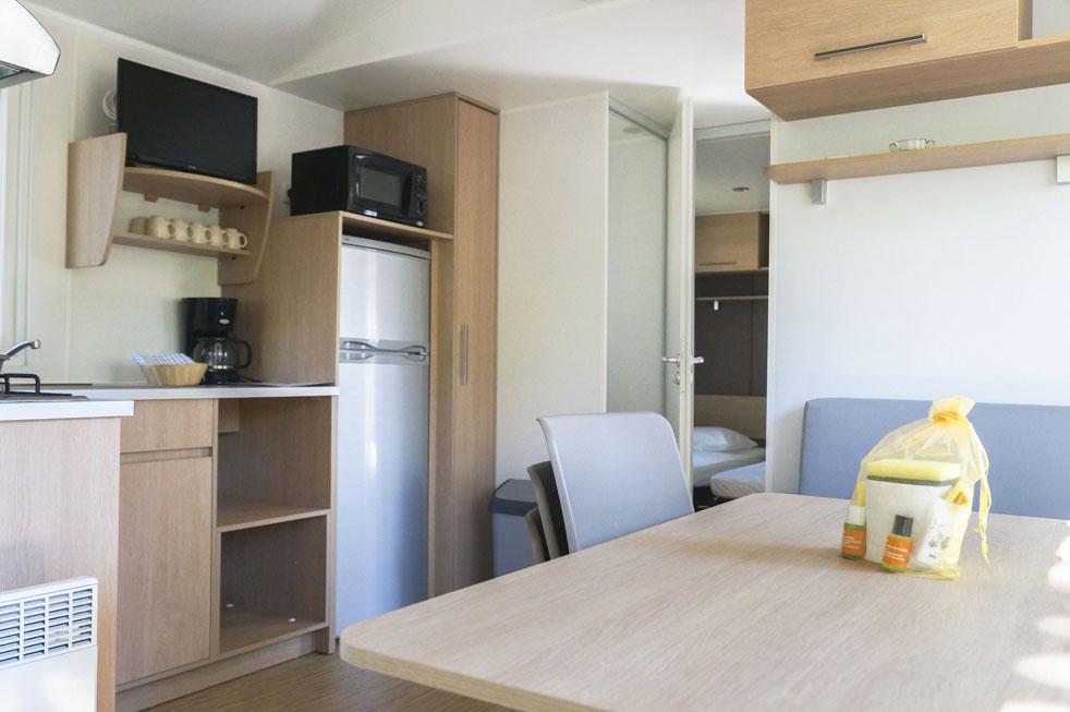 Mobil Home Rondinara cuisine camping Corse