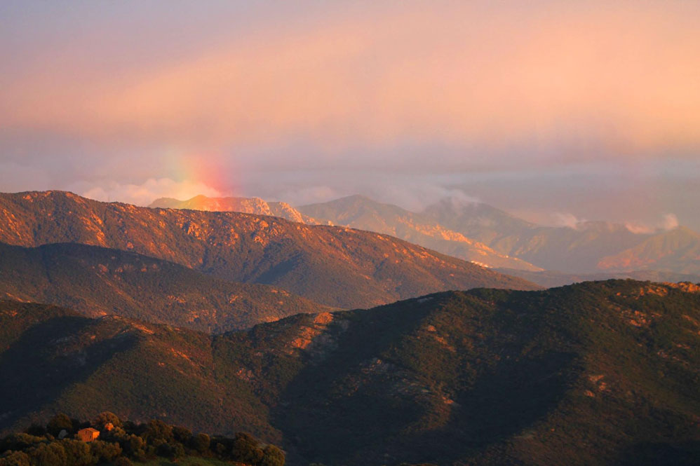arc en ciel lumio près camping Corse.