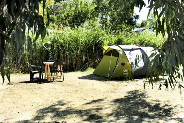 emplacement confortable au camping corse