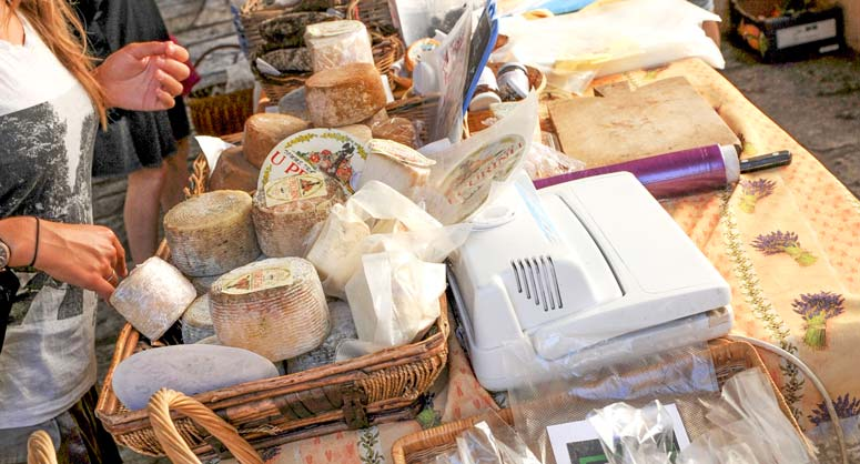 fromage camping Corse