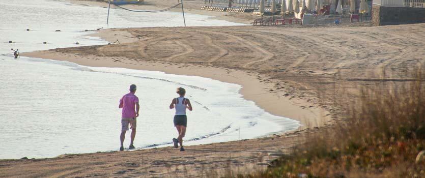 jogging en calvi près camping Corse