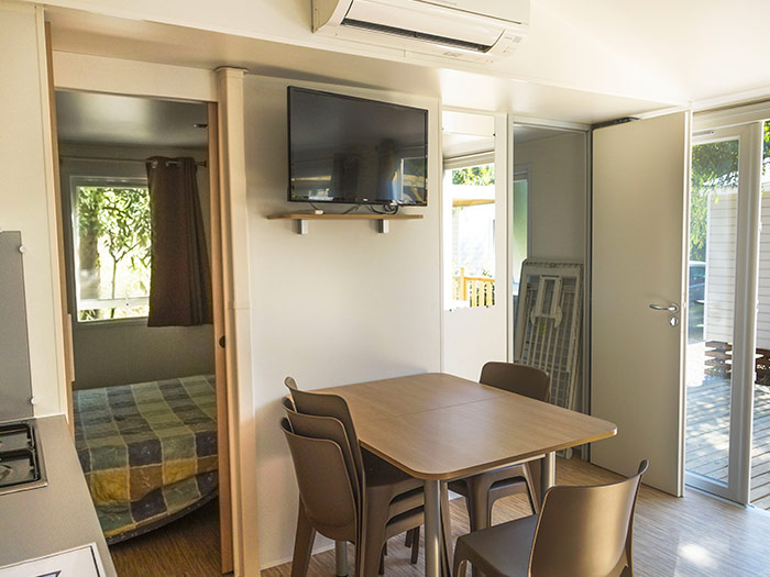 Mobil Home Ostriconi extérieur camping Corse