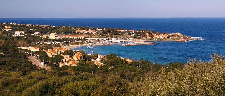vue d'ensemble sur Sant Ambroggio près camping Corse